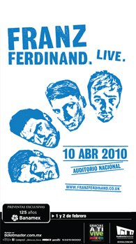 Franz Ferdinand en Mexico 2010