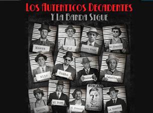 Los Auténticos Decadentes en México DF y Monterrey 2014